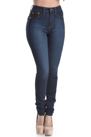 'Stacie' High Waist Dark Wash Skinny Jeans