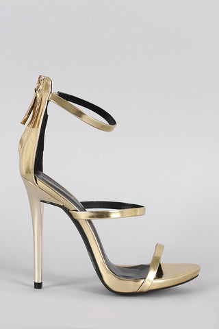"""Gina Gold"" Strappy High Heel Sandals"