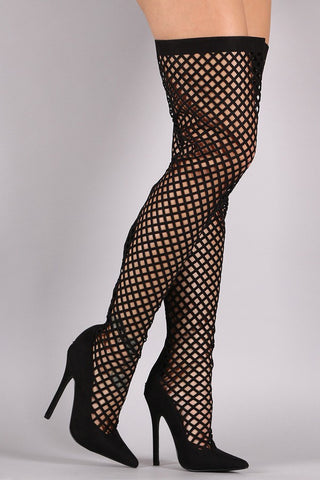 'Up High' Thigh High Caged Boots