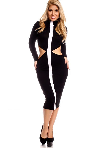 'In Your Lane' Cut-Out Dress