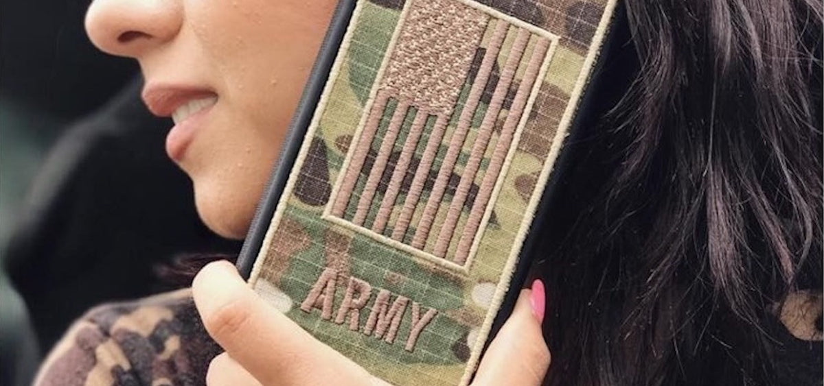 ARMY OCP fabric embroidered case 7+
