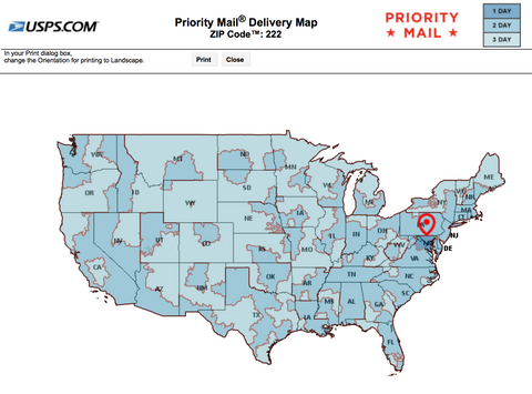 USPS Priority for 22202