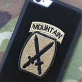 10 MtnD Patch - Fabric Locking Module - Subdue OCP - myHonor Case tactical assault morale gear warrior america freedom milspec army navy marines air force coast guard USA usmc uscg usaf veteran service infantry combat phone case fabric patch camo multicam marpat nwu abu grunt seaman airman leatherneck