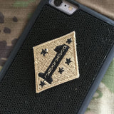 1st Marine Patch - Fabric Locking Module - Subdue OCP - myHonor Case tactical assault morale gear warrior america freedom milspec army navy marines air force coast guard USA usmc uscg usaf veteran service infantry combat phone case fabric patch camo multicam marpat nwu abu grunt seaman airman leatherneck