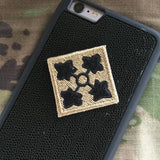 4ID Patch - Fabric Locking Module - Subdue OCP - myHonor Case tactical assault morale gear warrior america freedom milspec army navy marines air force coast guard USA usmc uscg usaf veteran service infantry combat phone case fabric patch camo multicam marpat nwu abu grunt seaman airman leatherneck