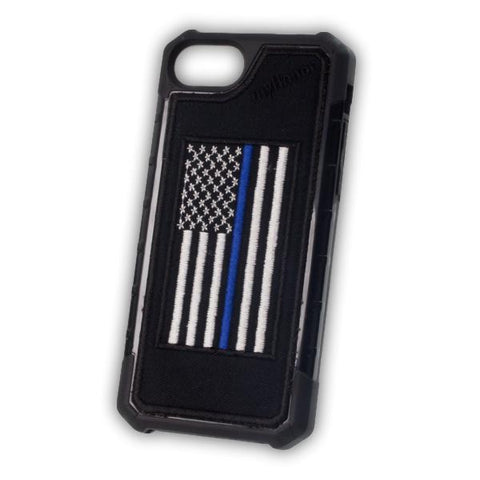 Thin Blue Line Flag - Embroidered Bumper Case - iPhone 6 / 7 / 8