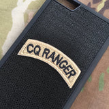 CQ RANGER Tab Patch - Fabric Locking Module - Subdue OCP - myHonor Case tactical assault morale gear warrior america freedom milspec army navy marines air force coast guard USA usmc uscg usaf veteran service infantry combat phone case fabric patch camo multicam marpat nwu abu grunt seaman airman leatherneck