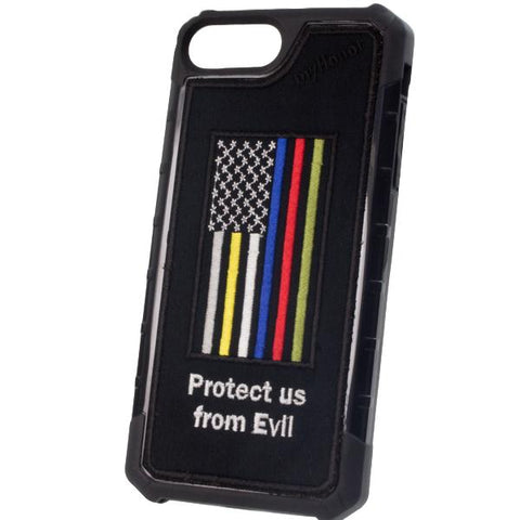 HERO FLAG Protect Us - Embroidered Bumper Case - iPhone 6 Plus / 7 Plus / 8 Plus