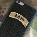 MP Tab Patch - Fabric Locking Module - Subdue OCP - myHonor Case tactical assault morale gear warrior america freedom milspec army navy marines air force coast guard USA usmc uscg usaf veteran service infantry combat phone case fabric patch camo multicam marpat nwu abu grunt seaman airman leatherneck
