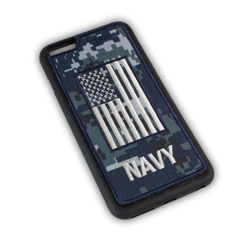 NAVY - Fabric Cover - iPhone 6 Plus - Locking Module - NWU1