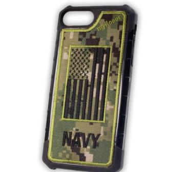 NAVY - Embroidered Bumper Case - iPhone 6 Plus / 7 Plus / 8 Plus - NWU3