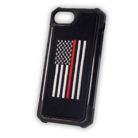 Thin Red Line Flag - Embroidered Bumper Case - iPhone 6 / 7 / 8