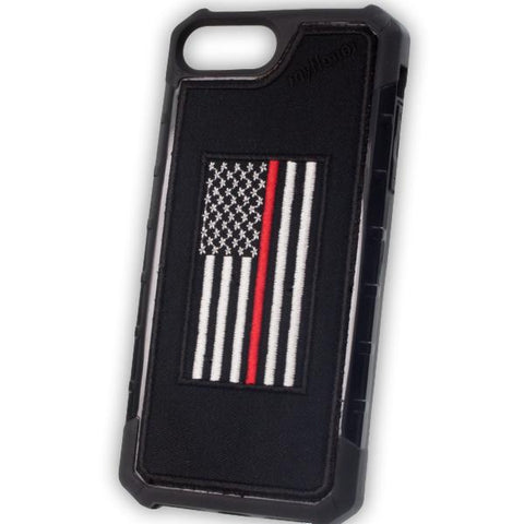 Thin Red Line Flag - Embroidered Bumper Case - iPhone 6 Plus / 7 Plus / 8 Plus