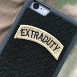 EXTRA DUTY Tab Patch - Fabric Locking Module - Subdue OCP - myHonor Case tactical assault morale gear warrior america freedom milspec army navy marines air force coast guard USA usmc uscg usaf veteran service infantry combat phone case fabric patch camo multicam marpat nwu abu grunt seaman airman leatherneck
