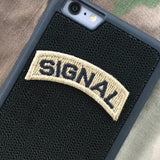 SIGNAL Tab Patch - Fabric Locking Module - Subdue OCP - myHonor Case tactical assault morale gear warrior america freedom milspec army navy marines air force coast guard USA usmc uscg usaf veteran service infantry combat phone case fabric patch camo multicam marpat nwu abu grunt seaman airman leatherneck