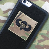 Airborne Wings Patch - Fabric Locking Module - Subdue OCP - myHonor Case tactical assault morale gear warrior america freedom milspec army navy marines air force coast guard USA usmc uscg usaf veteran service infantry combat phone case fabric patch camo multicam marpat nwu abu grunt seaman airman leatherneck