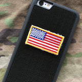 USA flag color medium patch velcro