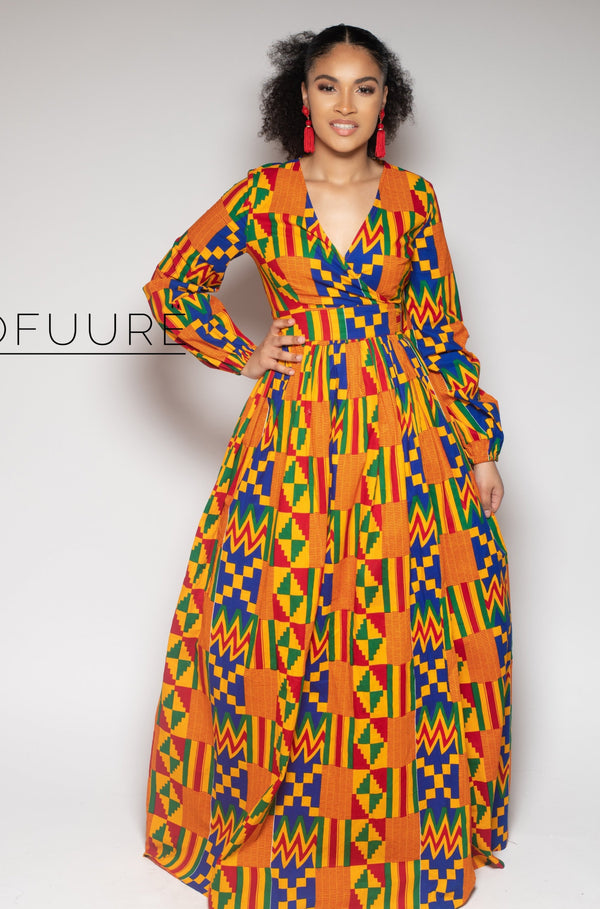 Bukola Wrap Maxi Dress - Zuvaa