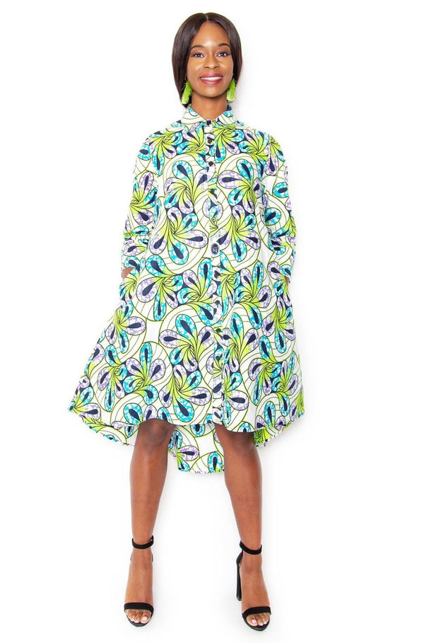 Lerato Shirt dress - Green