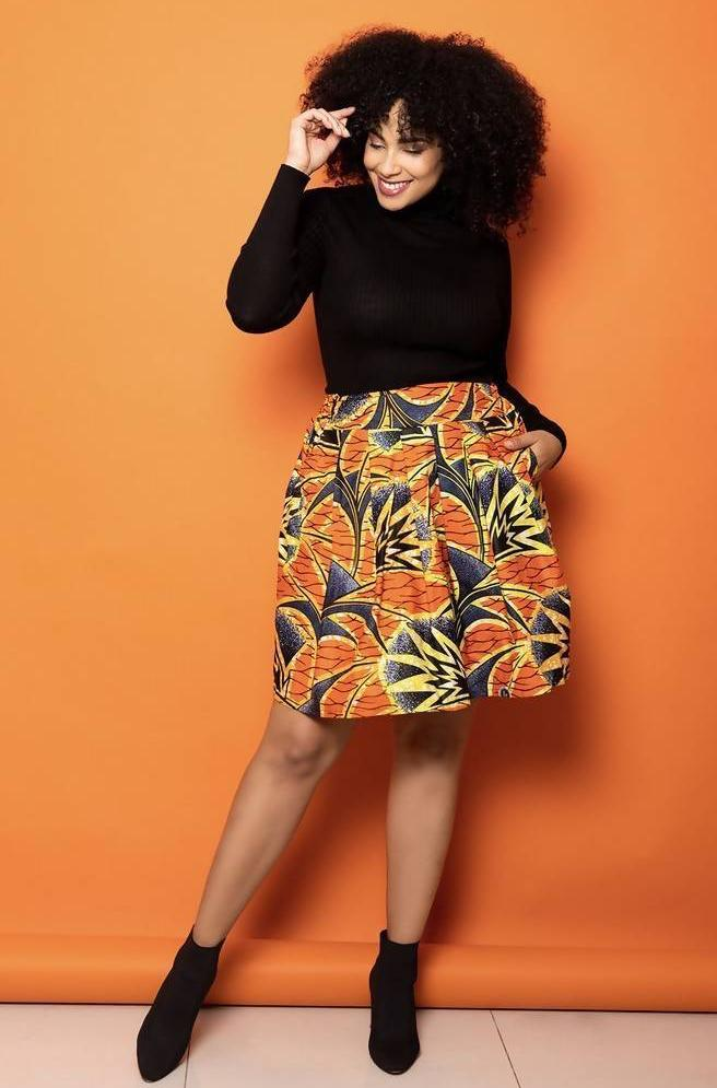 Skirt - Luanda Print - Mini Length - Zuvaa