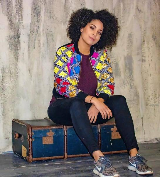 New in Mixed Print Ankara Bomber Jacket - Zuvaa