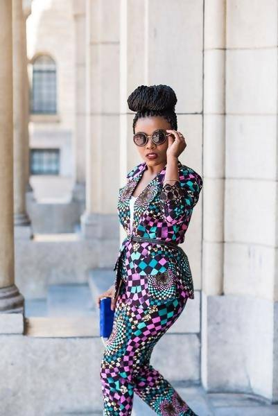 OMA African Ankara Print Jacket and Trouser Se - Zuvaa