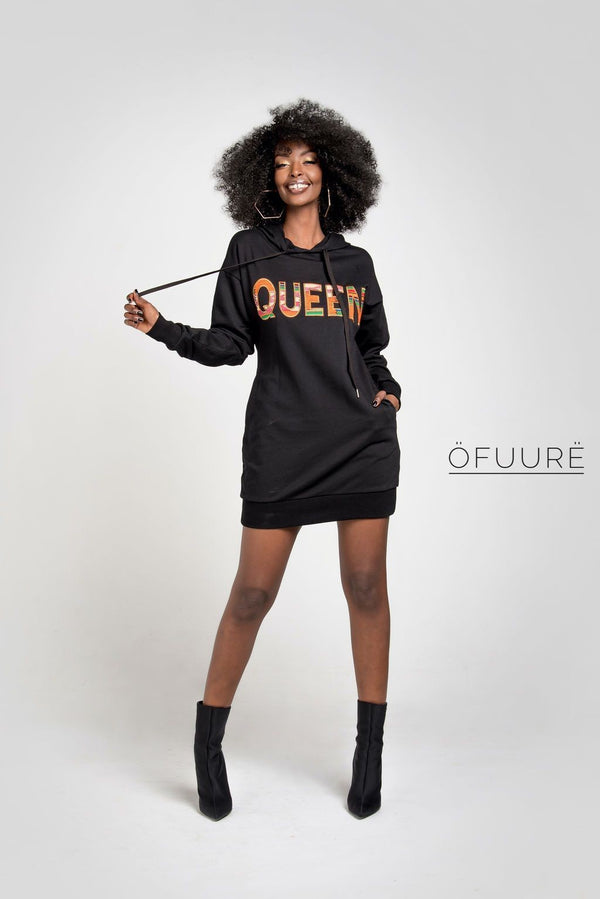 Queen Hoodie Dress - Zuvaa