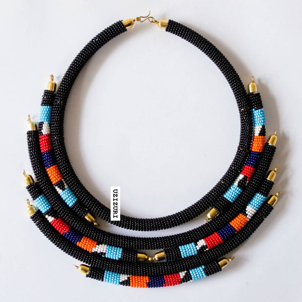 YEJIDE NECKLACE - BLACK - Zuvaa