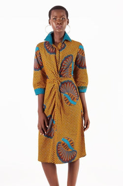 TWISTED SHIRT DRESS - Zuvaa