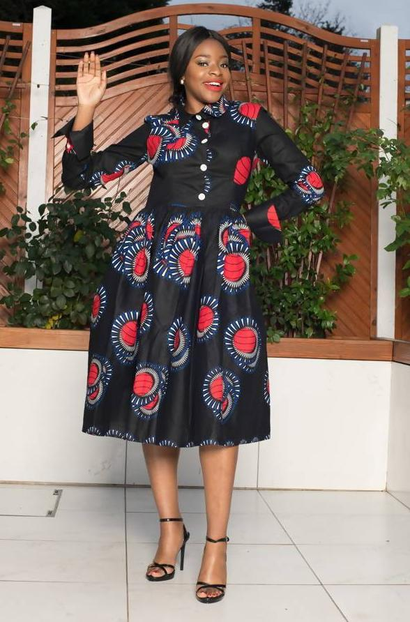 Rasta Black Midi Dress - Zuvaa