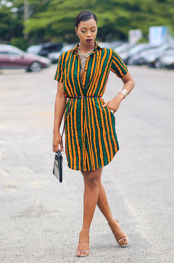 BADRU AFRICAN PRINT DRESS - Zuvaa