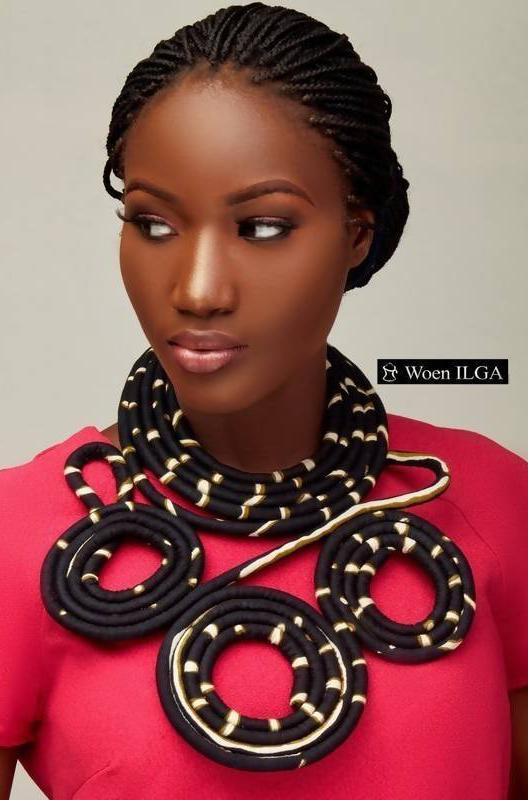 Necklace: Zola - Black - Zuvaa
