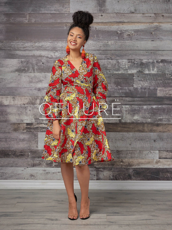 Wura Wrap Dress - Zuvaa