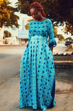 Oumie set - blue - Zuvaa