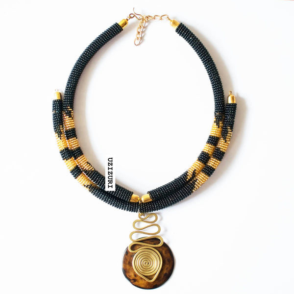 ADWOA PENDANT NECKLACE - Zuvaa