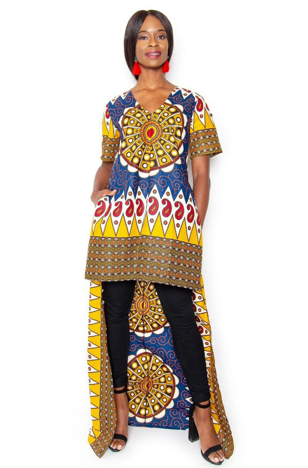 Hawa High Low Top/Dress - Tribal - Zuvaa