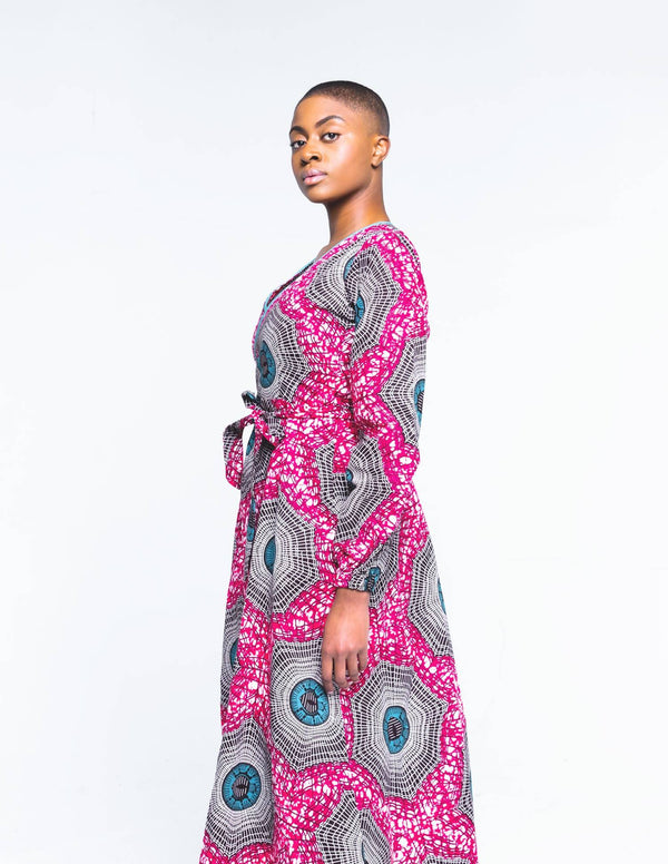 The Web Wrap Dress - Zuvaa