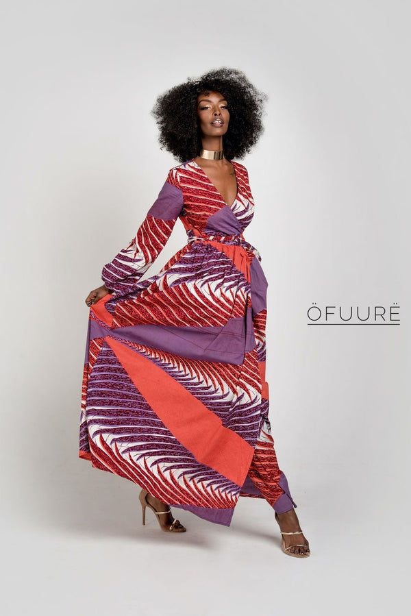 Olayinka Wrap Maxi Dress - Zuvaa