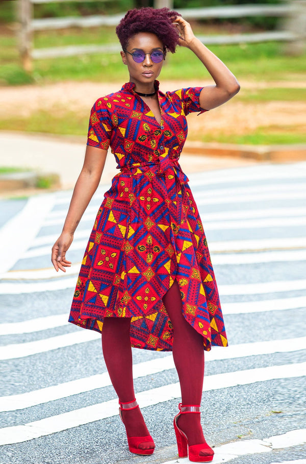 Chaka Hi lo shirt dress - Zuvaa