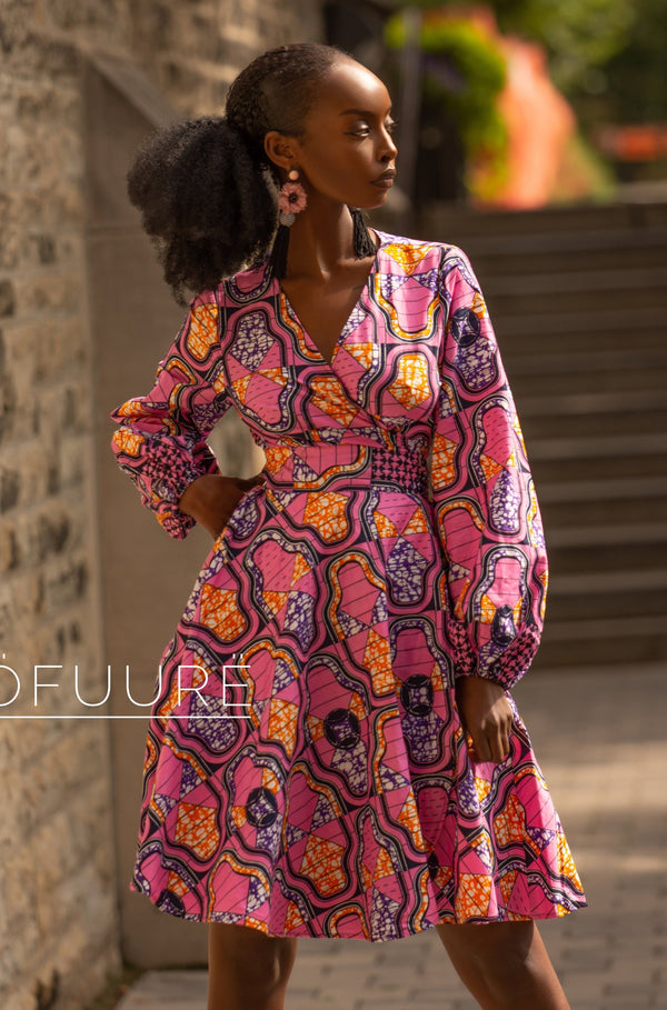 Oge Wrap Dress - Zuvaa