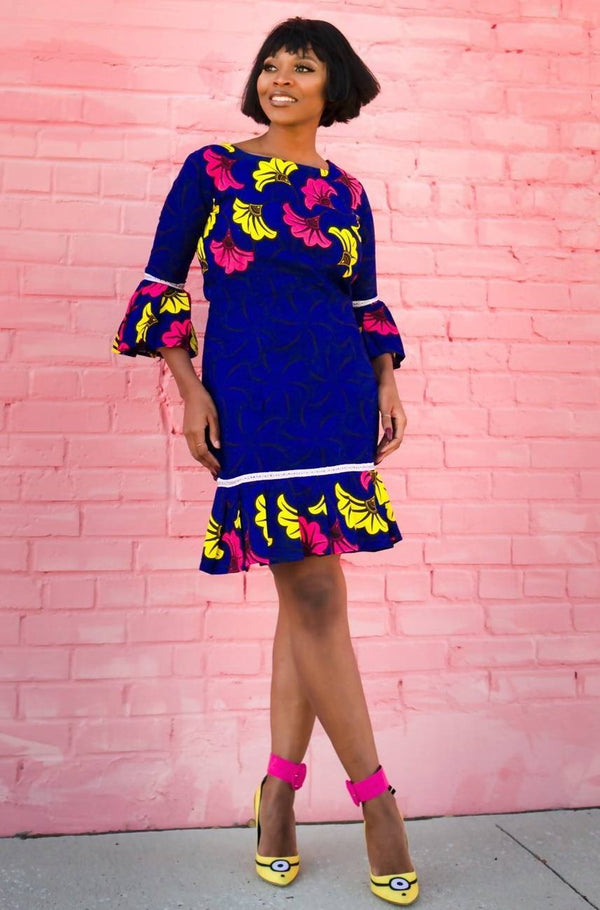 Funbi African Print Dress - Zuvaa