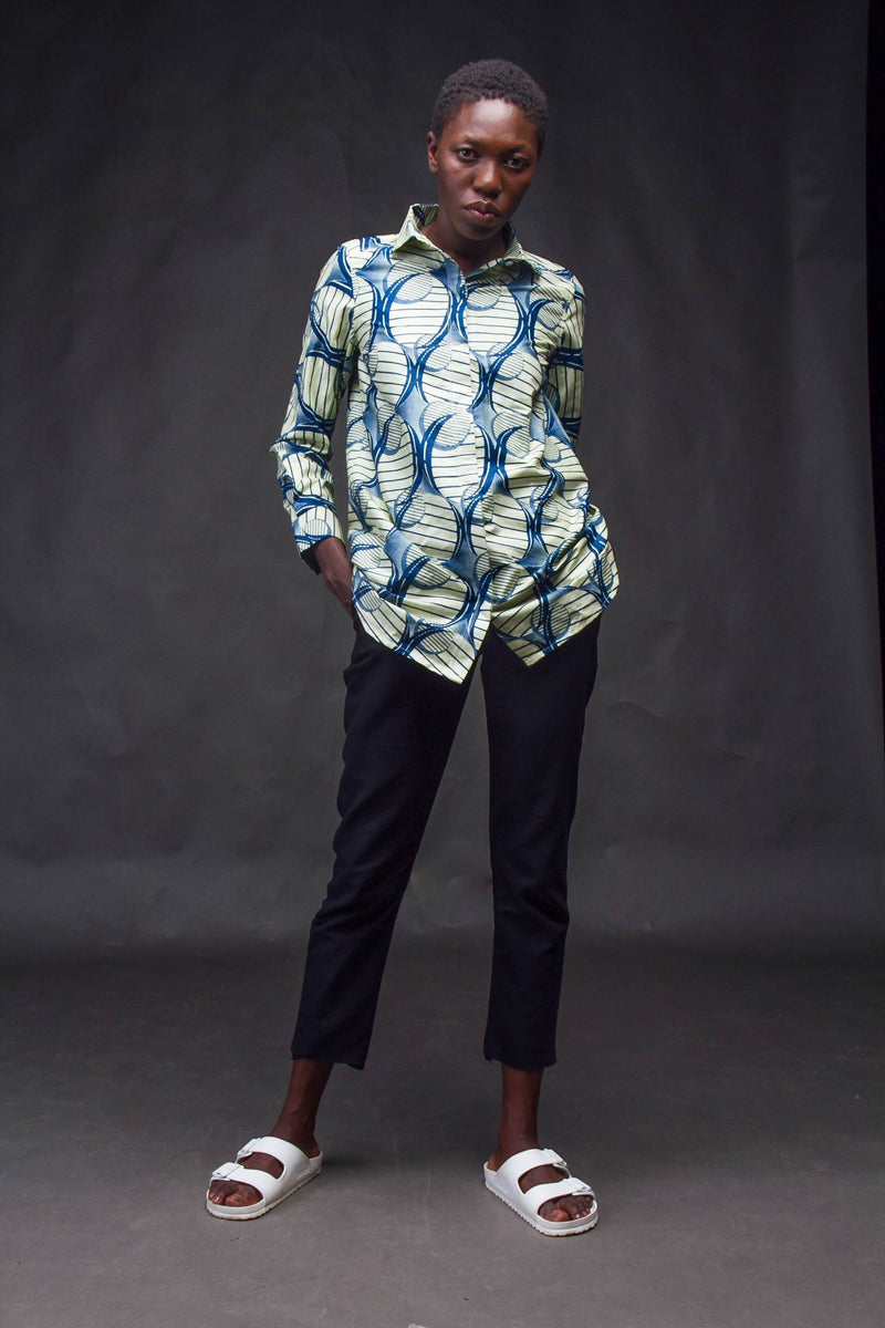 Ofoase Shirt Blue - Zuvaa