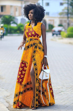HAUWA WRAP DRESS - Zuvaa