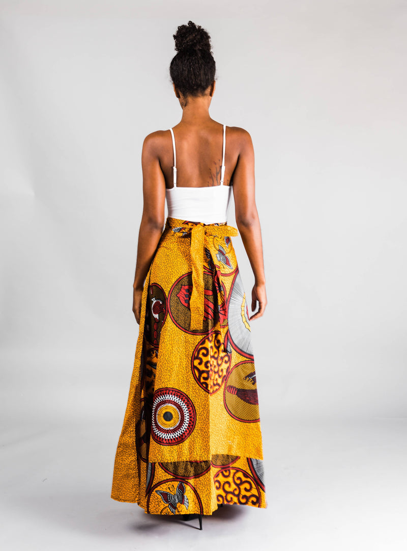 The Tribe Wrap Skirt - Zuvaa