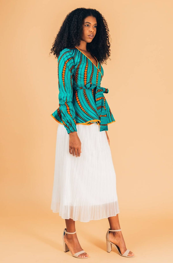 The Main Wrap Blouse - Zuvaa