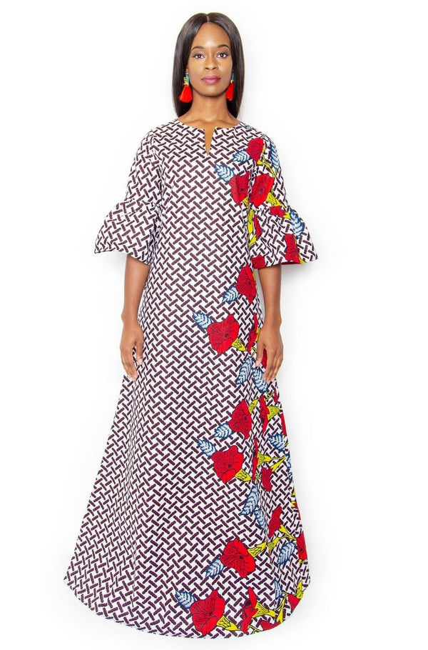 Habiba Maxi Dress - White - Zuvaa