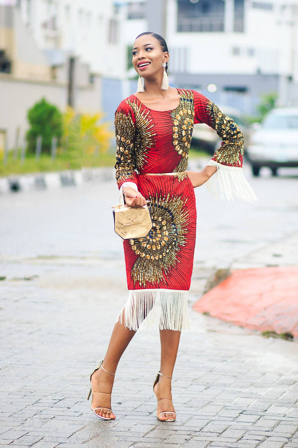 Tomi Fringe Dress - Zuvaa
