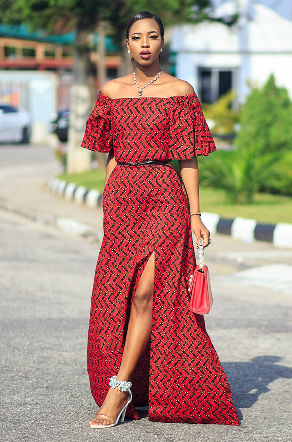 ZAIRE AFRICAN PRINT DRESS - Zuvaa