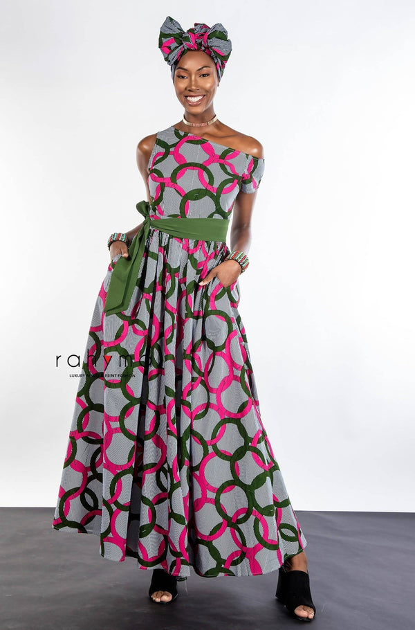 Rahyma Green Nelly Maxi Dress - Zuvaa