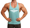 Swole Athletics Wing Logo White on Light Blue Stringer (Men's) - Swole Athletics